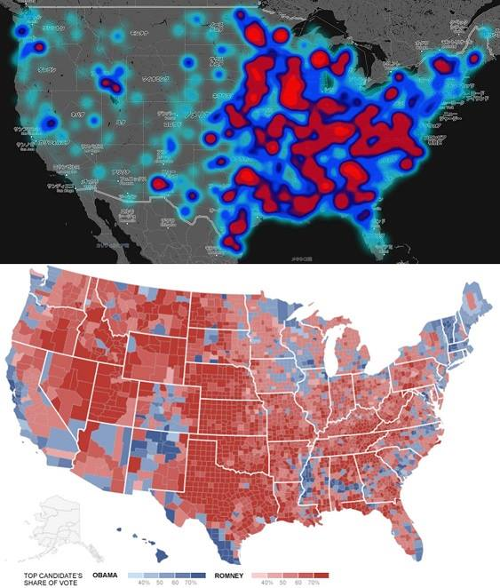 """Hate Map"" vs. ""red states, blue states"""